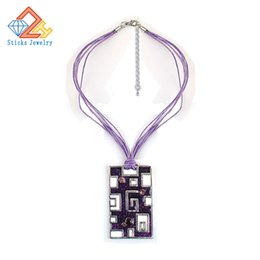 Wholesale Rope Necklaces Materials - Europe and the United States Popular Pendants   Necklace 100% Green Material Purple Drop 1Piece   Lot a Lot of Shipping