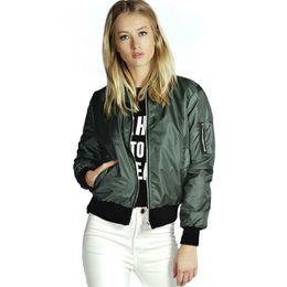 2016 Brand New Spring Style Army Green Donna Casual Giacche manica lunga moda cappotti Outwears autunno donne giacca invernale cheap army jacket slim women da giacca da donna esercito donne sottili fornitori