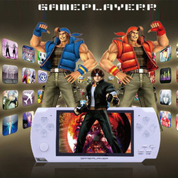 Wholesale Mp3 Mp4 Player Box - 4.3 Inch LCD PMP Handle Game Player 8GB MP3 MP4 MP5 Video Game Player FM Camera Portable Game Console With Retail Box