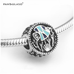 Wholesale Pandora Ocean - Ocean Life Mixed Enamel & Multi-Colored CZ charms For Woman Gift Fits Pandora charms Bracelet For Woman Beads DIY Silver 925 Jewelry