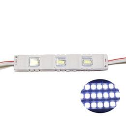 Пластиковый модуль онлайн-SMD5630 Светодиодные Модули Квадратный Объектив светодиодный модуль Свет Инжекции ПВХ Пластиковые 3 Светодиодов 1.5 Вт Светодиодная Подсветка DC12V Белый R / B / G / Y 100 шт.