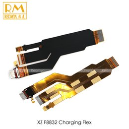 Wholesale Ribbon Mini Usb Cable - Original 5pcs lot For Sony Xperia XZ F8832 Z5 Mini Charger Dock Port Connector Solt Usb Charging Board Flex Cable Ribbon Replacement Parts