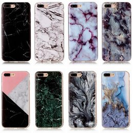 Wholesale Iphone Glossy Case - Art Glossy Granite Marble Soft TPU Phone Case Cover For iPhone 5 6 6S 7 8 Plus Samsung S6 S7 edge S8