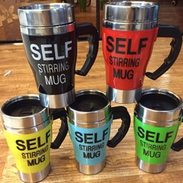 Wholesale Thermos Coffee Cup Mug - 10PC Self Stirring Coffee Cup Mugs Electric Coffee mixer Automatic Electric Travel Mug Coffee Mixing Drinking Thermos Cup mixer with