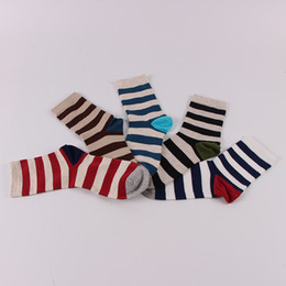 Wholesale Tennis Dress Wholesaler - New 5-color mixed suit Fashion Men's Long Striped Sock For Men Compression Socks Calcetines Business Dress Socks meias masculinas Chaussette