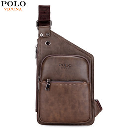 Wholesale Antique Pillows - Wholesale- VICUNA POLO Famous Brand Casual Leather Men's Crossbody Bag Retro Antique Mens Leather Shoulder Bag Leisure Men Messenger Bags