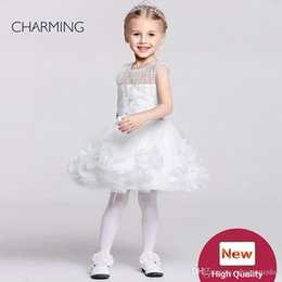 Wholesale Embroidery Designs For Kids - Baby pageant dresses Kids design clothes Flower girl dress ivory high quality Pageant dresses for girls China suppliers