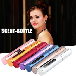 Wholesale Mini Refillable Perfume Atomizer Bottle - 12ml Travel Mini Portable Refillable Perfume Parfum Atomizer Spray Bottles Empty Bottles Empty Cosmetic Containers