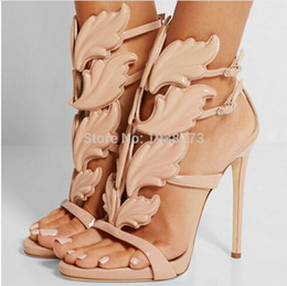 Wholesale Sexy Gold Gladiator Heels - 2017 women shoes high heels sandal patent leather gladiator women pumps sexy ladies stiletto party wedding shoes woman high quality