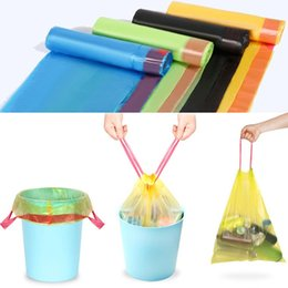 Wholesale Clothes For Home - Household Garbage Bags Colored Drawstring Portable Thick Classification Bag For Home Kitchen Office Waste Basket Trash Can Liner