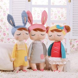 Wholesale Metoo Cartoon - Brand New Metoo Cartoon Stuffed Animals Rabbits Plush Toy 5 Styles 34cm Stuffed Sleeping Doll Toys XMAS Gifts For Kids Children Collection