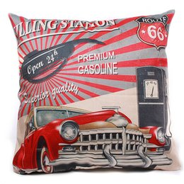 Wholesale Hotel Brand Pillows - Wholesale- Brand New 45*45cm Micro-velboa Vintage Pillow Case Throw Home Bedroom Living Room Office Product