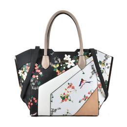 Wholesale Women Big Bags - 2017 New National luxury Handbags Woman Top-handle Tote Socialite Brand Designer Floral Big Patchwork Stereotypes Shoulder Bags SY2127