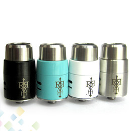 Wholesale Drip Tips Black - Rebuildable Revolt RDA Clone 4 Colors Silver Black White Blue with 510 Thread with Wide Bore Drip Tip Airflow Control DHL Free