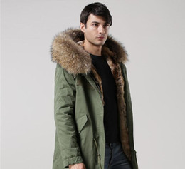 Wholesale Canvas Lines - Mr & Mrs Man Classic Furs Long Parkas hooded with raccoon fur collar and rabbit furs lining USA UK