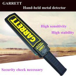 Wholesale Wholesale Garrett Metal Detector - High Sensitivity Garrett Super Scanner Hand Held Gold Metal Detector For Security Detectors High Quality 20pcs With Retail Box