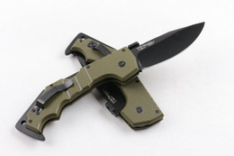 Wholesale COLD STEEL AK47 model green handle Folding Pocket Camping Survival Knife Xmas knife gift knives freeshipping