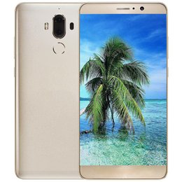 Wholesale Large Screen Radio - Free shipping goophone mate9 6 inch large screen 2017 new ultra-thin waterproof smart Quad-core 3G high-definition smart phone