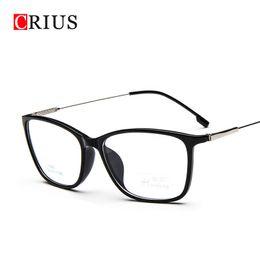 Wholesale Eyeglasses W - Wholesale- w oculos de grau omen's optical glasses frame eyeglasses optical frame clear glasses prescription eyewear Metal alloys vintage
