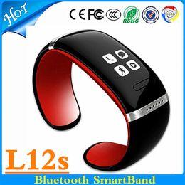 Reloj pulsera saludable online-L12s Reloj Inteligente Smartband Bluetooth Pulsera Saludable Reloj / Identificador de Llamadas / Alarma / Podómetro Sleep Monitor para IOS Android Samsung S7 edge