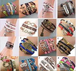 Wholesale Multi Gold Ring - DIY originality, fashion, foreign trade, explosion, supply, Europe and the United States, big friendship, multi layer woven bracelet, a vari