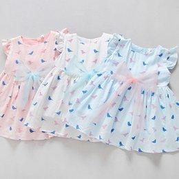 Wholesale China Clothes Manufacturers - China Manufacturer 2017 Lovely Children Clothing Breathable Bird Printing Cartoon New Model Girl Dress