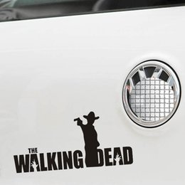 Wholesale Zombie Car Stickers - High quality bomb stickers Zombie biochemical crisis car stickers WALKING DEAD against reflective cars modified door stickers