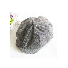 Wholesale Wholesale Cotton Beret Hats - Wholesale- Gray Casual Cabbie Newsboy Cap Mens Ivy Hat Golf Driving Summer Sun Flat Octagonal Cool