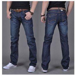 Wholesale Dark Blue Skinny Jeans - Wholesale-Men's Dark Blue Denim Jeans Mens Brand Jeans male pants casual trousers plus size jean joggers biker jeans