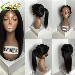 Wholesale Human Hair Braided Wigs - Silky Straight Full Lace Human Hair Wigs For Black Women Brazilian Braid Lace Front Wigs Glueless Full Lace Wigs With Baby Hair