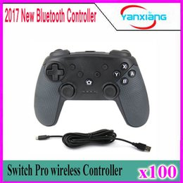Wholesale video game switches - 100pcs Selling Newest Arrival Turbo Function Bluetooth Controller for Nintend Switch Pro for PC XP System Video Game Play YX-ST-02