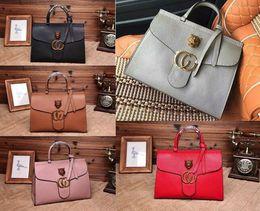 Wholesale G Covers - Women 409155 Marmont leather top handle bag,Double G,Feline metal detail,Flap Closure,Antique gold metal detail,Cotton linen lining,With Box
