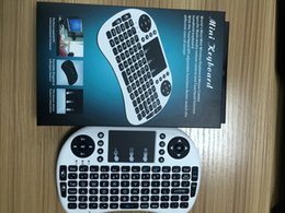 Wholesale Dhl Mouse - Rii Air Mouse Wireless Handheld Keyboard Mini I8 2.4GHz Touchpad Remote Control For MX CS918 MXIII M8 TV BOX Game Play Tablet DHL Free