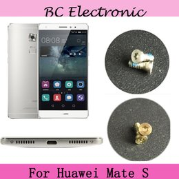 Wholesale Huawei Phone Housing - Wholesale- 2PCS silver   Gold For Huawei Mate S Buttom Dock Screws Housing Screw nail tack For Huawei MateS Mobile Phones Free Shipping