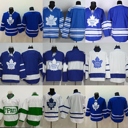 Wholesale Cheap Men S Suit - Factory Outlet Men's Toronto Maple Leafs #blank Blue White Green New Best Quality Cheap Hot Sale ice hockey jersey free shipping suit S-XXXL