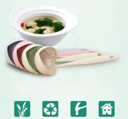 Wholesale Tool Dinnerware - 2 in 1 Soup Spoon Long Handle Creative Porridge Spoons with Filter Dinnerware Cooking Tools