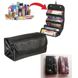 Wholesale Large Jewelry Roll Bag - Fashion Lady's Travel Large Capacity Multi Functional Organizer Cosmetic Bags Jewelry Storage Make Up Bag Package