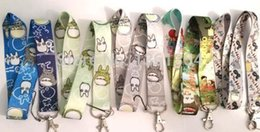 Wholesale Totoro Card - Wholesale 50pcs Mix My Neighbor Totoro Neck Strap Lanyard Keychain Phone Camera ID Card Key Badge Holder New mixed colors