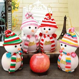 Wholesale Apple Favours - Snowman Christmas Eve Wedding Favour Candy Bag Gift Apple Candy Bags Wrapping Papers Fruit Christmas Bag