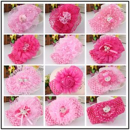 8bbbdb6d2 Baby Headwear Hairband Pearl Hello Kitty Headbands Fashion Lace Flowers  Headband Kids Hair Accessories