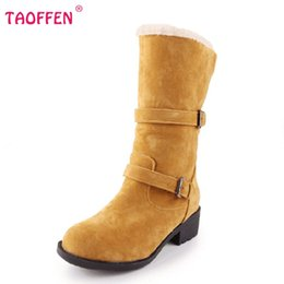 Wholesale Ladies Footwear Boots - Wholesale- ladies falt ankle boots women vintage snow half short botas warm winter boot fashion cotton footwear shoes P20415 size 34-43