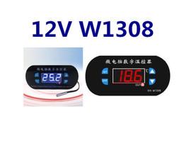 Wholesale High Temperature Digital Thermostats - by dhl fedex 100pcs lot W1308 Adjustable Digital Cool Heat Sensor Thermostat Switch Temperature Controller DC 12V High temperature alarm