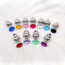 Wholesale Metal Large Anal Toys - 80 * 34 Medium Metal Anal Sex Toys For Woman & Man, Stainless Steel Enticing Jewelry Butt Plug. Large Ass Beads Products AS024M BY DHL