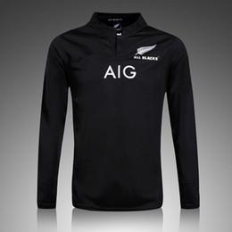 Wholesale NUEVO Zealand RUGBY jersey Superior Tailandia calidad RWC NRL Super RUGBY inicio y fuera Todos los negros Camisetas Envío gratuito