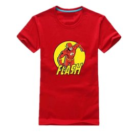 Wholesale T V Dc - 2016 New Fashion Men Super Flash T Shirts The Big Bang Theory Sheldon Bazinga T-shirt DC The Flash T Shirt Fitness Geek Tee TBBT