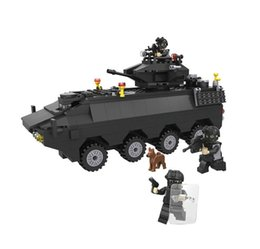 Wholesale Vehicles Puzzle - Toy Building Blocks Special Police Series 6508 Special Police Armored Vehicles 418pcs Children Puzzle Assembled Toys