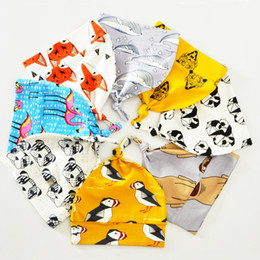 Wholesale Birds Hats - 8pcs lot Baby Hats For Girls 2017 New Fashion Animal Panda Bird Dog Tiger Pattern Boys Caps Cartoon Kids Newborn Hat & Cap 0-3T