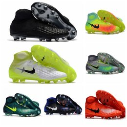 Wholesale Cheap Men Ankle Boots - Mens Magista Obra II FG Ankle High Soccer Cleats Magistas 2 ACC Football Boots New Soccer Shoes Cheap Outdoor Soccer Boots Wholesale 2017