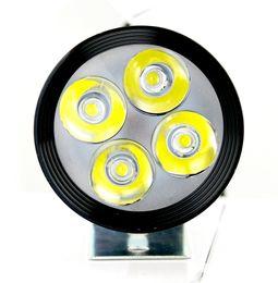 Wholesale Motorcycle Light Bulbs - Hot 12w led bulb headlight for motorcycle adjustable distance bald lamp lighting waterproof DC 12v 80v
