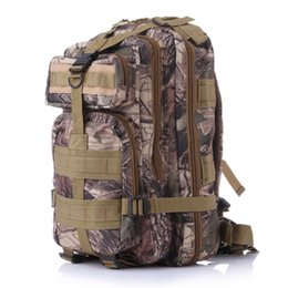 Wholesale Travelling Backpacks Army Green - Free Shipping Men Sports backpack camouflage backpack shoulder bag 3P canvas travel backpack Mountain hiking bag